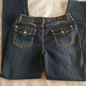Women's Pair Of Earl Stretch W/Crystals Jeans:8